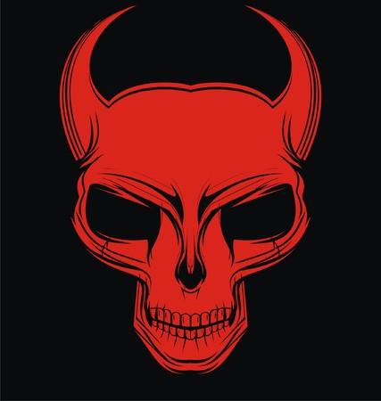 vicious: Red Demon Head Illustration