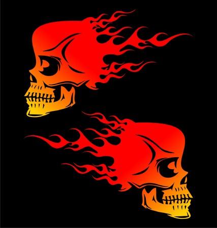 flaming: Flaming Skulls