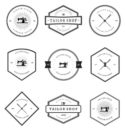 tailor shop: Vintage Tailor Shop Badges