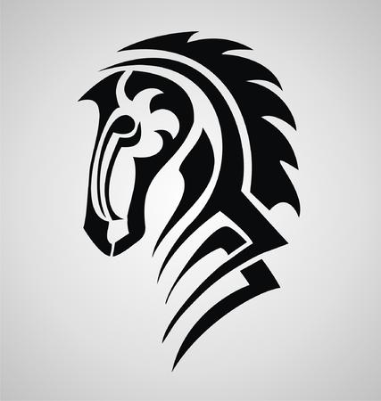 tribalism: Horse Tattoo Design