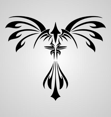 tribal dragon: Phoenix Bird Tribal