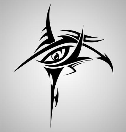 tribalism: Eyes Tribal Tattoo Design