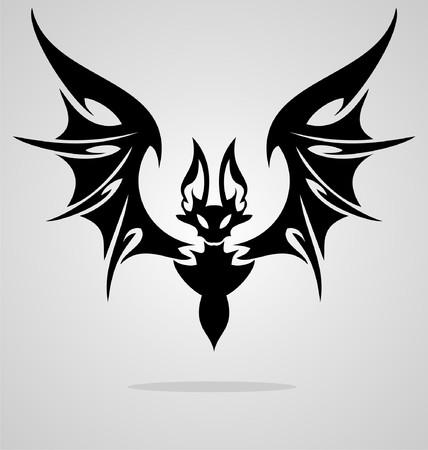 tribalism: Bat Tattoo