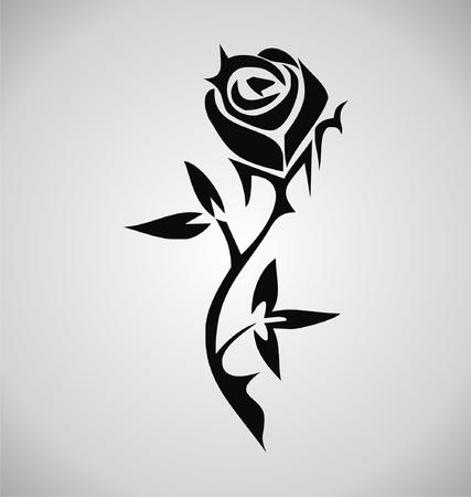 tribalism: Tribal Rose Tattoo