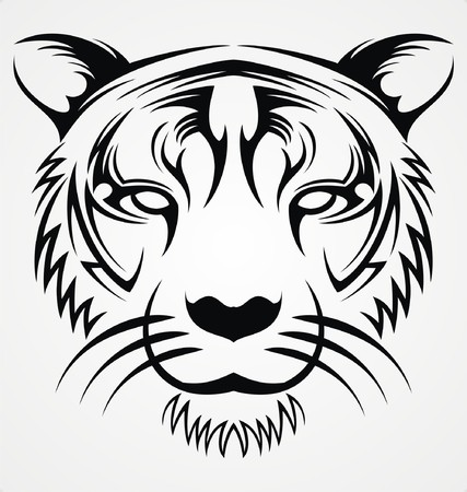 tribalism: Tiger Face Tribal