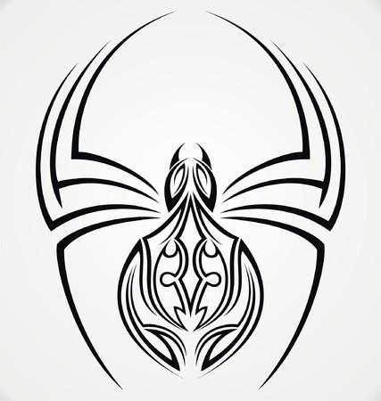 tribalism: Spiders Tattoo Design