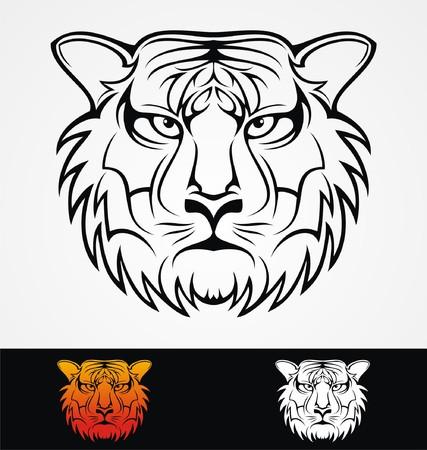 tribalism: Tiger Head Tribal Mascot