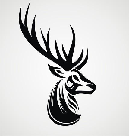 tribalism: Deer Tattoo Design