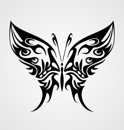 body painting: Butterfly Tattoo Design Illustration