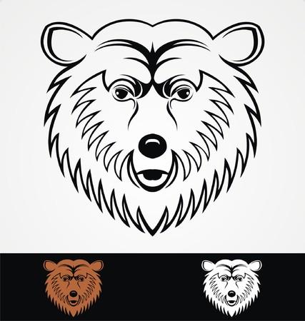 tribalism: Bear Head Mascot