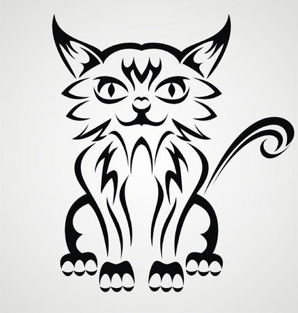 tribalism: Cat Tattoo Design