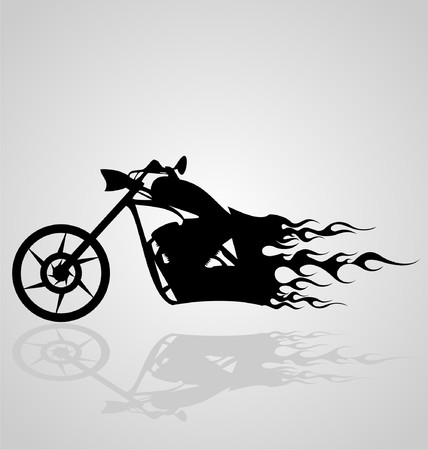 flaming: Flaming Motorcycle