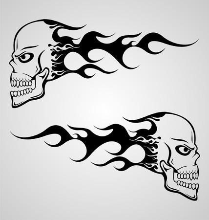 flaming: Flaming Skull