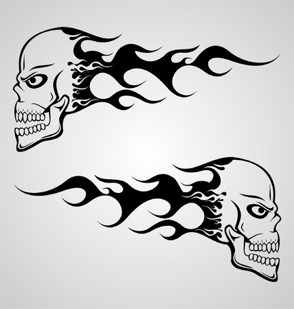 tribalism: Flaming Skull