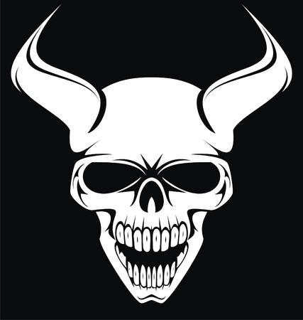ghostlike: White Demons Head Illustration