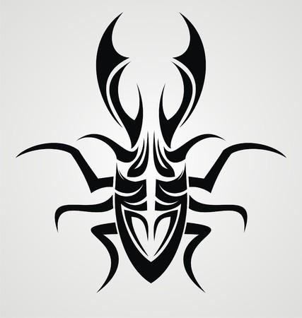 tribalism: Beetle Tattoo Design