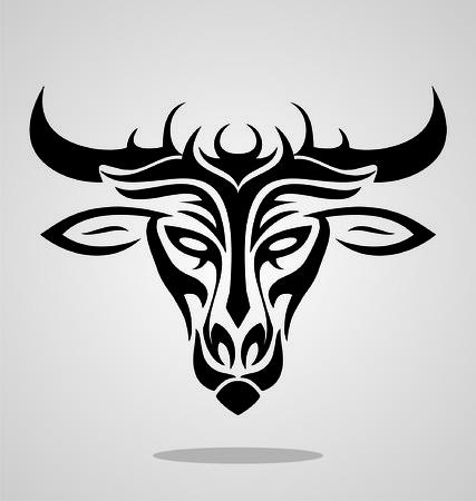 wilds: Bull Head Tribal Illustration