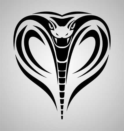 king cobra: King Cobra Head Tribal Illustration