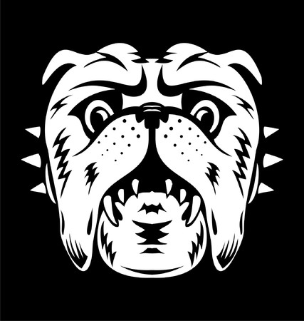 k9: White Bulldog Face
