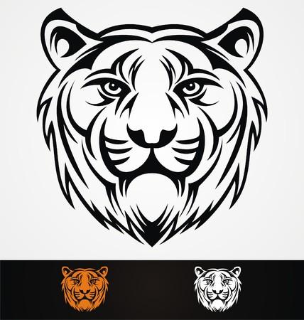 tribalism: Tiger Head Mascot