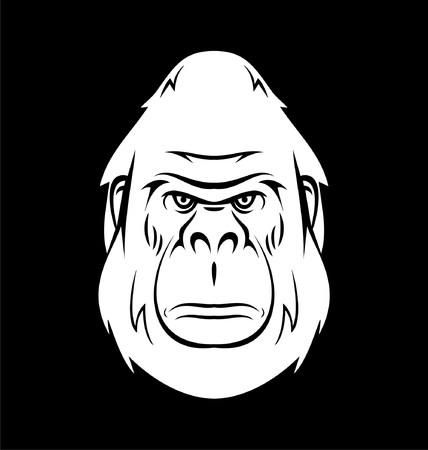 king kong: White Gorilla Head
