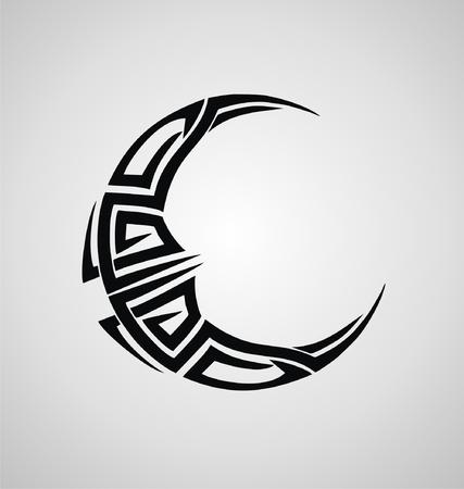 angry sky: Tribal Moon