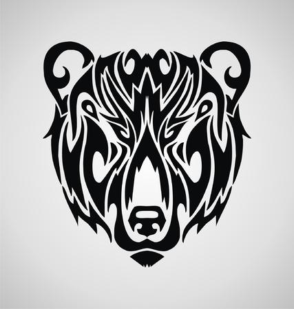 tribalism: Tribal Bear Face