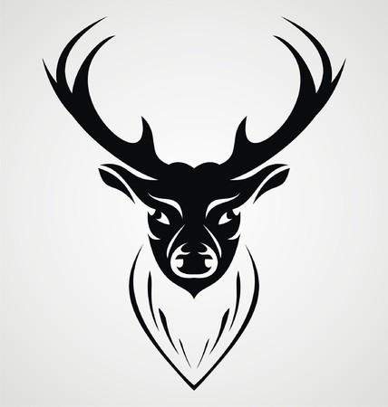 tribalism: Black Deer Head