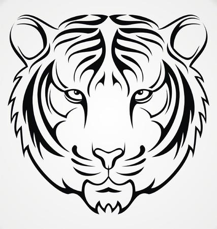 tribalism: Tribal Tiger Head