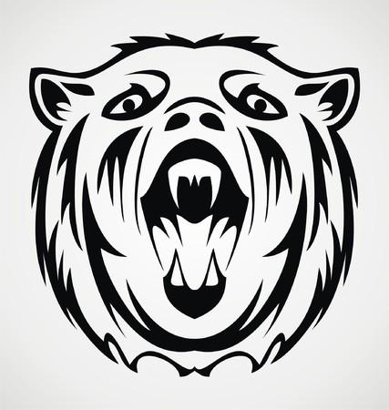 tribalism: Bear Face Tattoo Design