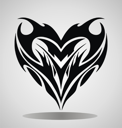 tribalism: Tribal Heart Illustration