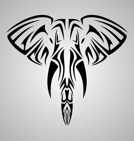 tribalism: Tribal Elephant Head