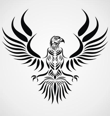 tribalism: Tribal Eagle Bird Illustration