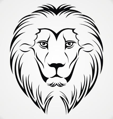 tribalism: Lion Head Tattoo Design