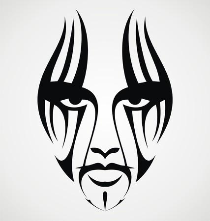 tribalism: Tribal Face Tattoo