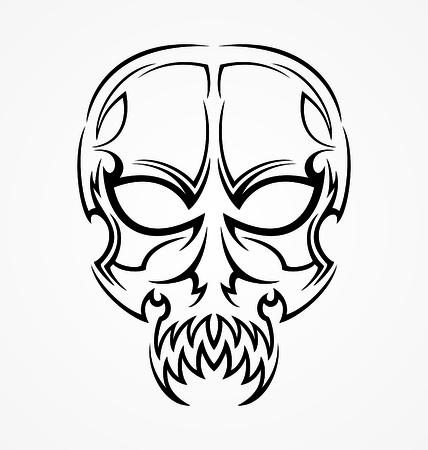tribalism: Tribal Skull Tattoo Design