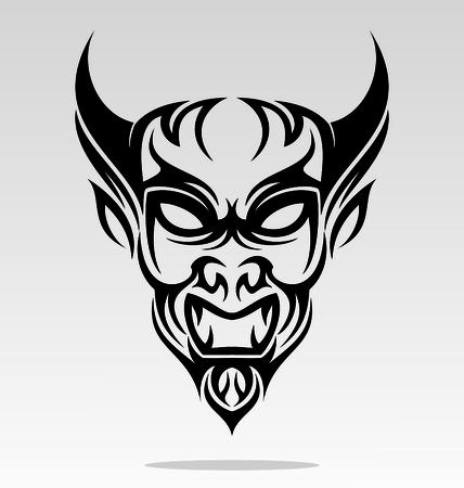 tribalism: Devils Head Tattoo Design