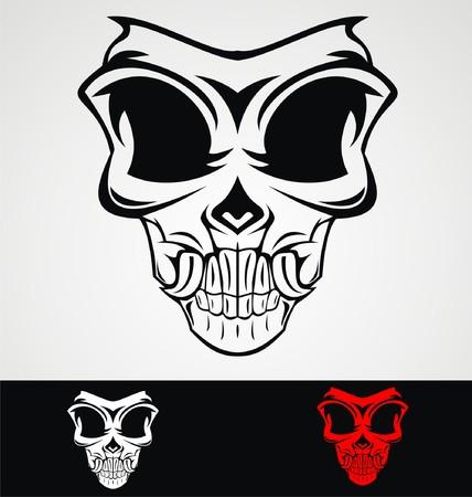 skull mask: Skull Mask Tribal
