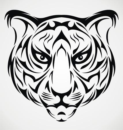 tribalism: Tiger Head Tattoo Design