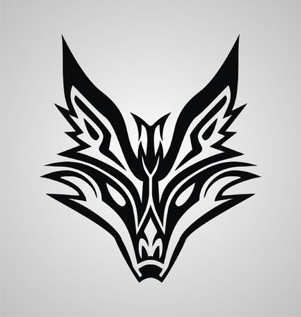 fox face: Tribal Fox Face