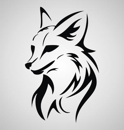 tribalism: Fox Tattoo Design