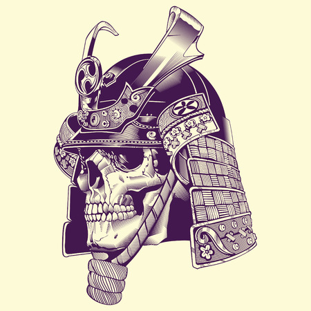Skull Samurai Warrior lllustration