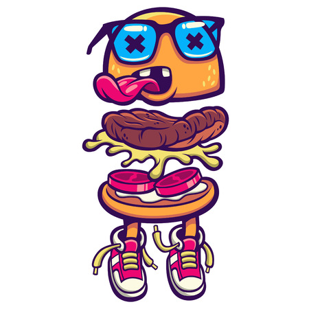 cartoon tomato: Hamburger Illustration