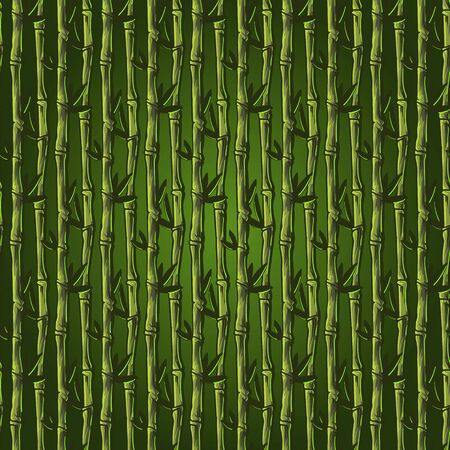 Hand drawn bamboo floral seamless pattern background wallpaper