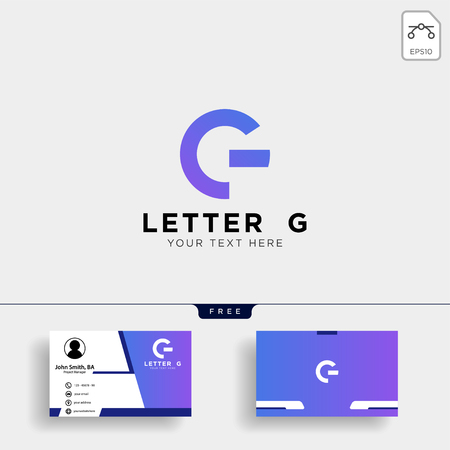 Letter AG or G creative logo template vector illustration with business card template - vector
