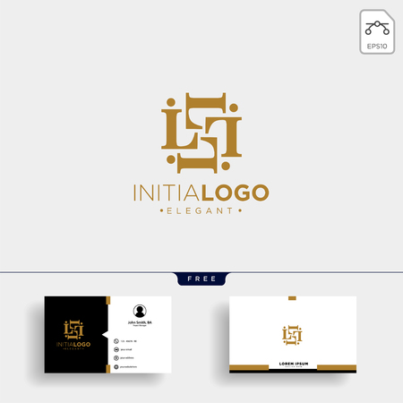 initial L luxury logo template vector illustration and business card design