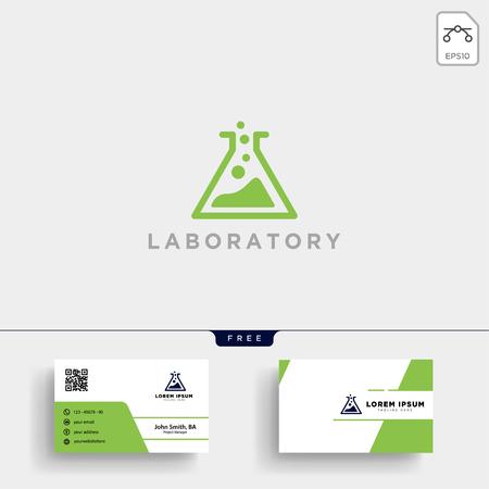 Laborlogoschablonenvektorillustration und -Visitenkarte