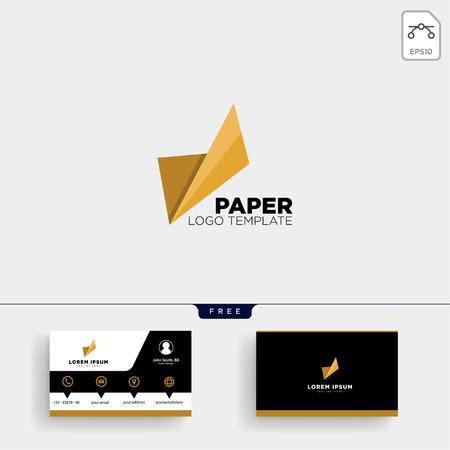 Papier abstrakte Logo-Vorlage Vektor-Illustration und Visitenkarten-Design