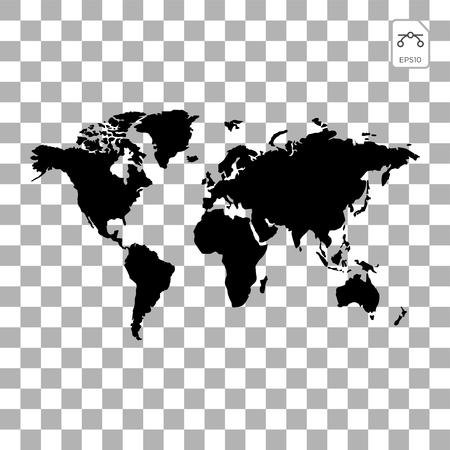 Globos de tierra aislados sobre fondo blanco. Icono de planeta tierra plana. Ilustración de vector.