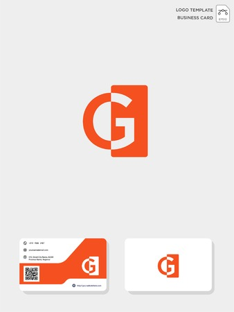 initial CG or GC creative logo template and business card include. vector illustration and logo inspiration